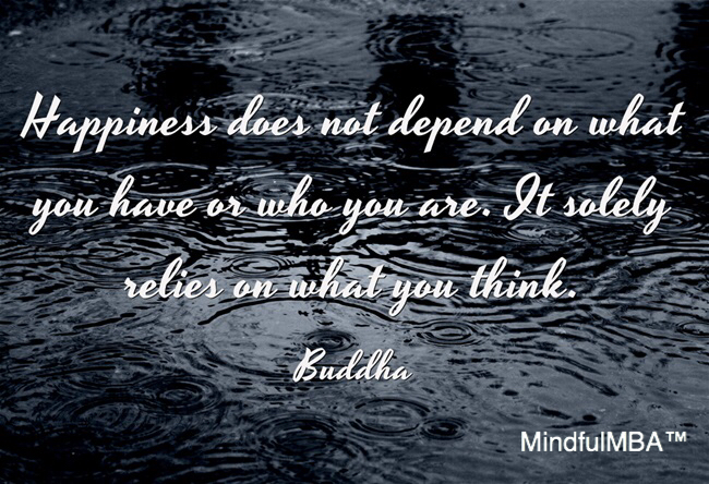 Buddha Happiness quote w tag