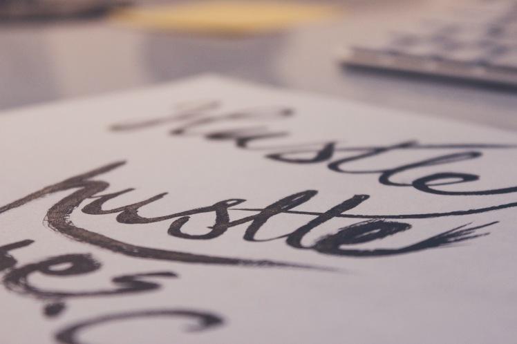 Hustle Calligraphy_Stocksnap_Marcin Czaja
