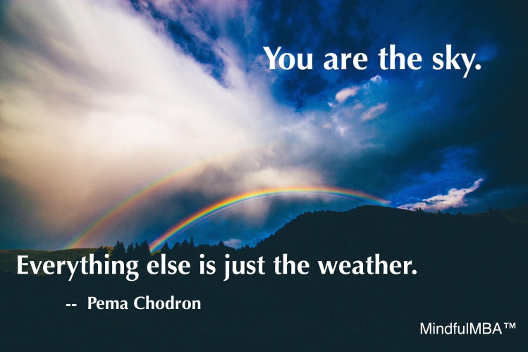Pema Chodron weather quote w tag