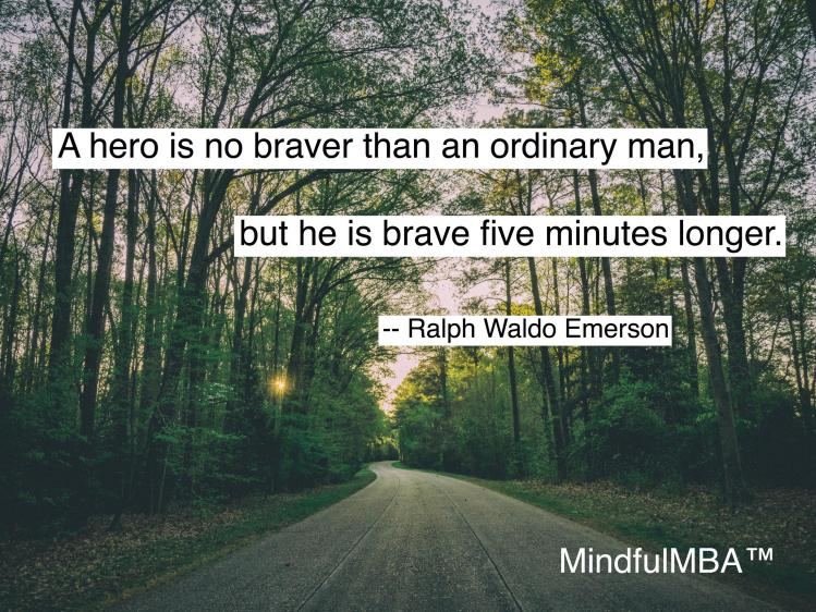 Emerson Brave quote w tag