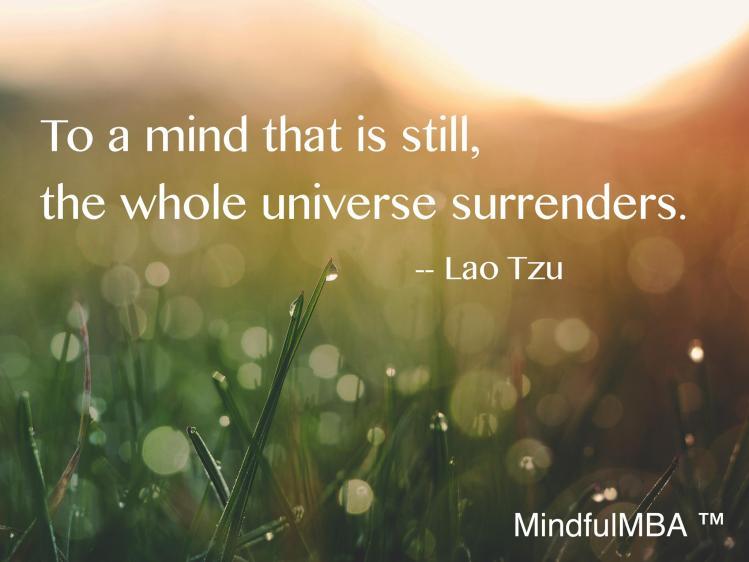 Mind is Still Lao Tzu quote w tag