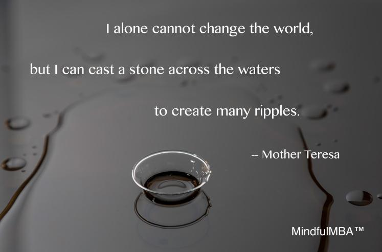 Mother Teresa ripples quote w tag