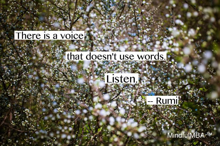 Rumi voice w:out words quote w tag