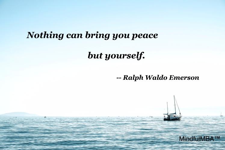 Emerson peace quote w tag
