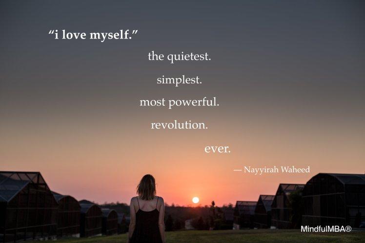 N Waheed love myself quote w tag