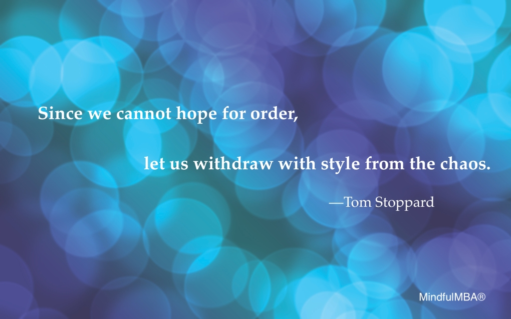 Tom Stoppard Chaos quote w tag