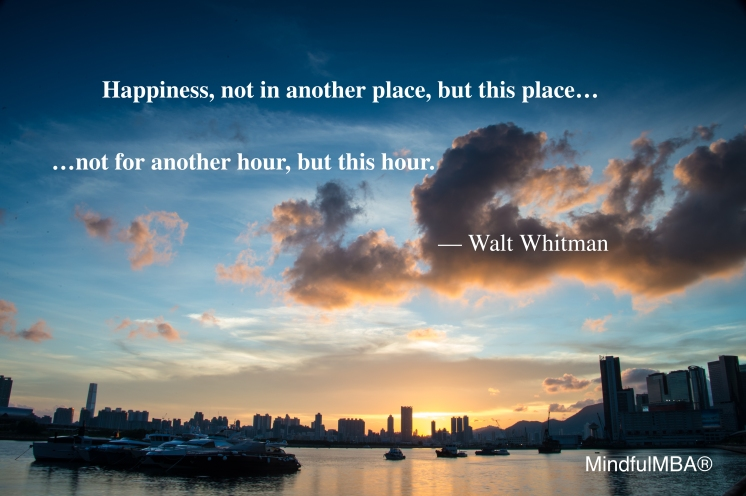 Whitman Happiness Time & Place quote w tag