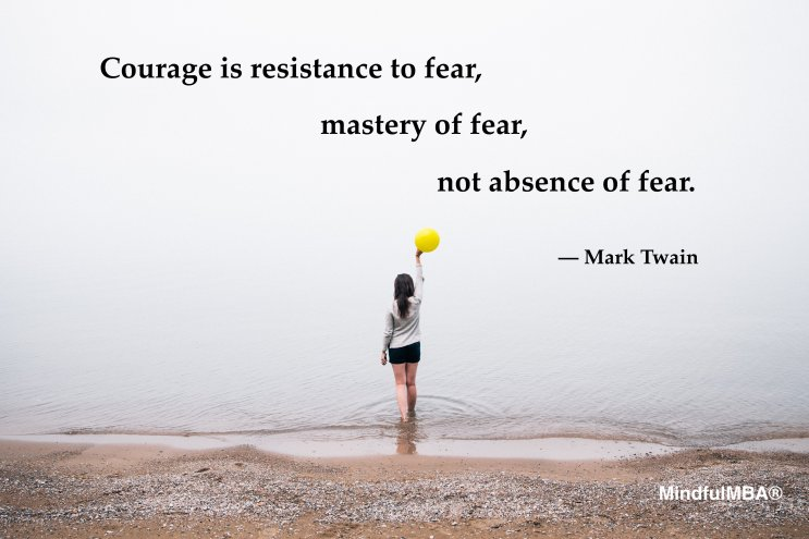 Mark Twain courage fear quote w tag