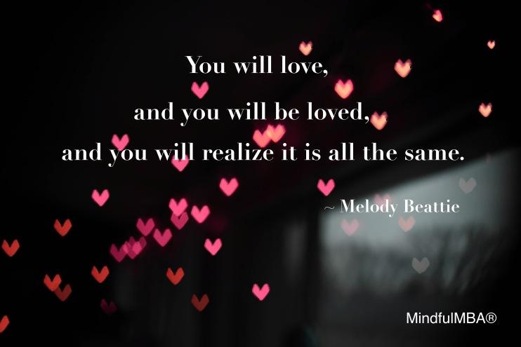 M Beattie love quote w tag