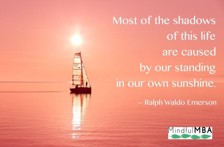 Emerson Sunshine quote w tag
