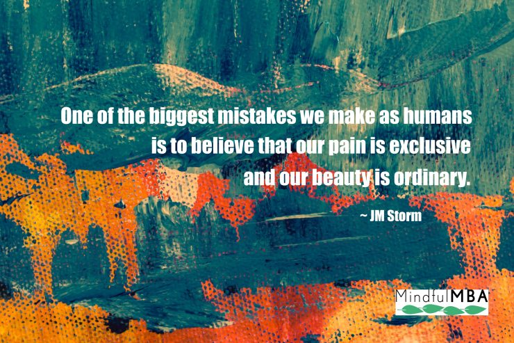 JM Storm pain and beauty quote w logo
