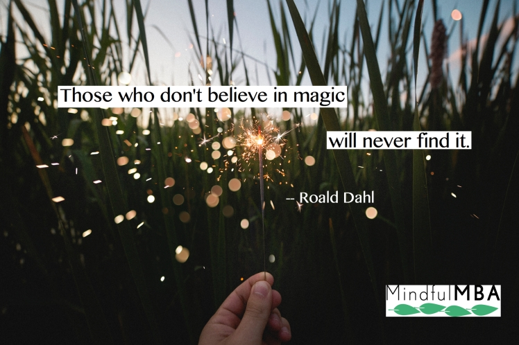R Dahl magic quote w logo