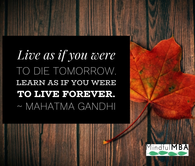 Gandhi Live Learn quote w logo
